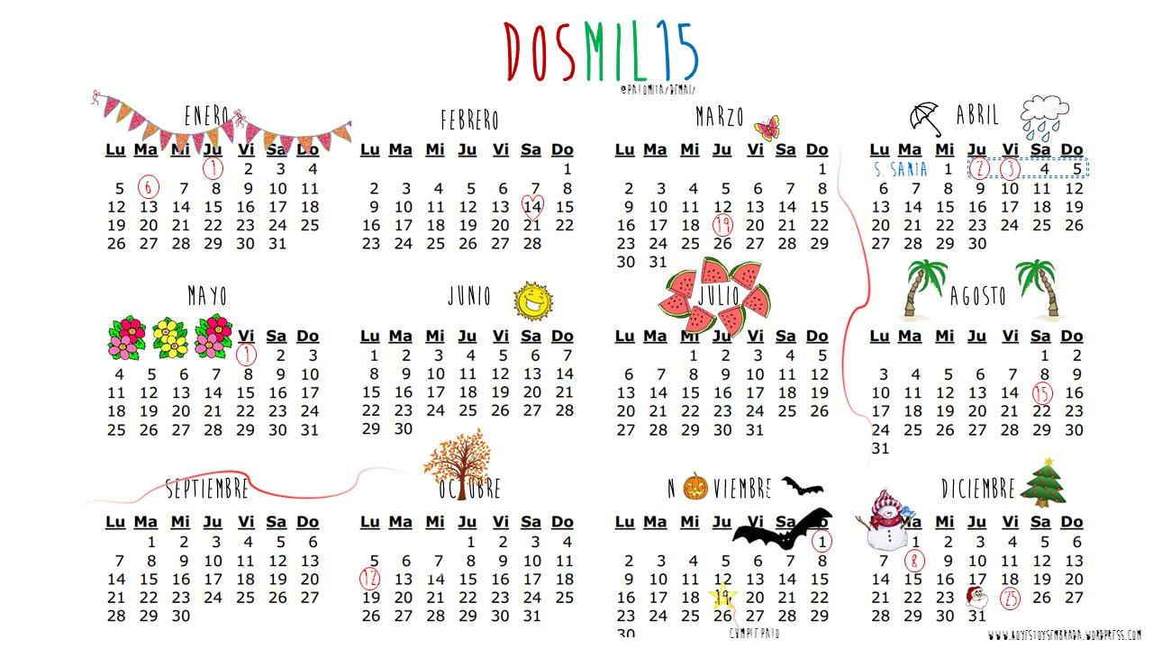 Emoji Del Calendario.Enero 2015 Hoy Estoy Sembrada